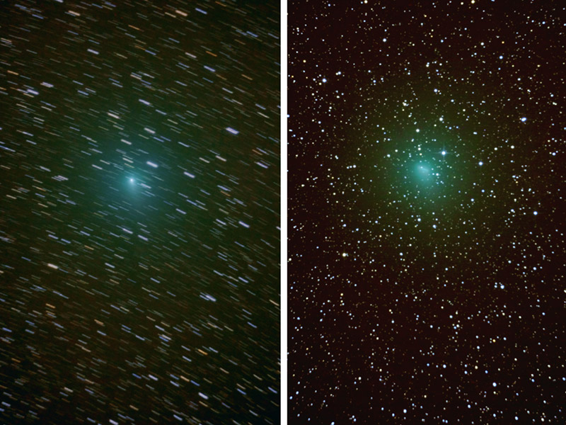 Comparison photo of comet 103P