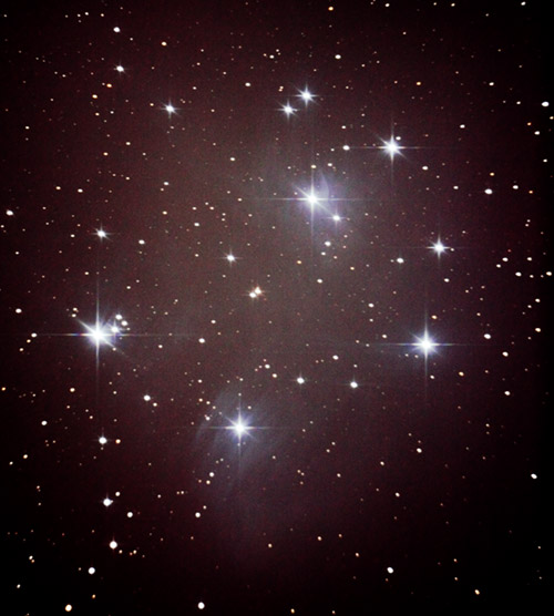 Image of M45, the Pleiades