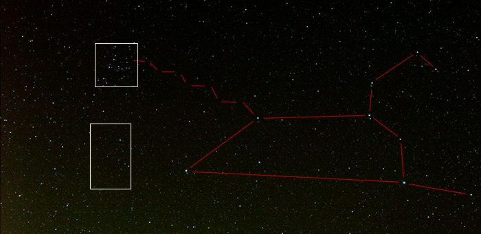 Annotated image of Leo, Coma Berenices and part of Virgo