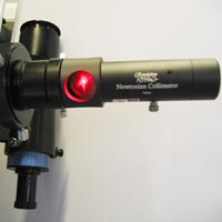 Laser collimator in use