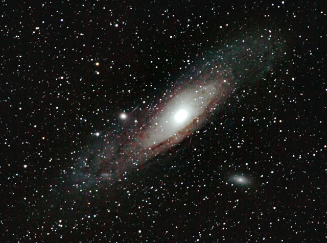 Image of galaxies M31, M32 & M110