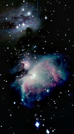 Telescopic photo of M42 nebula in Orion