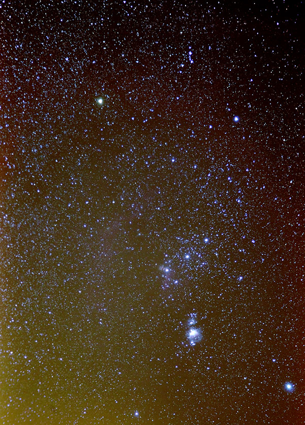 The whole of Orion, showing nebulae