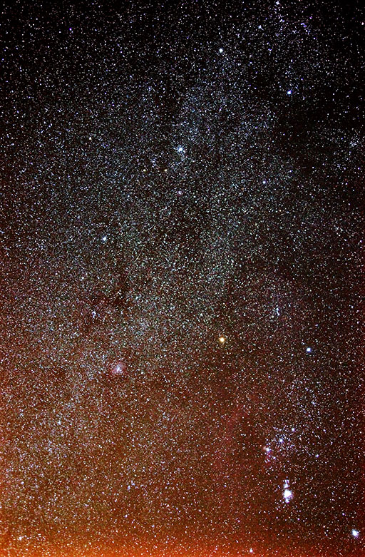 The Milky Way near Orion